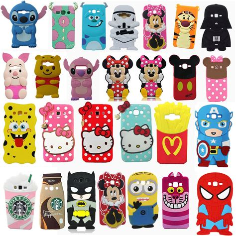 Samsung Grand Prime Line Friends Girly 3d Back Cov T19 3d soft silicone phone back cover skin for