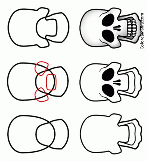 imagenes de calaveras faciles para dibujar colorear como dibujar cara calavera cmo dibujar