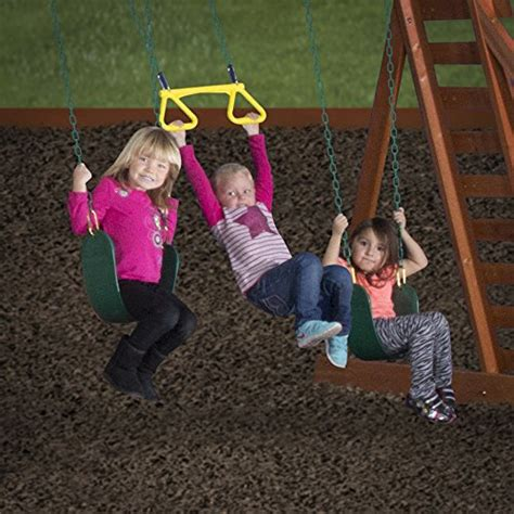 woodridge wooden swing set with slide backyard discovery woodridge ii all cedar wood playset