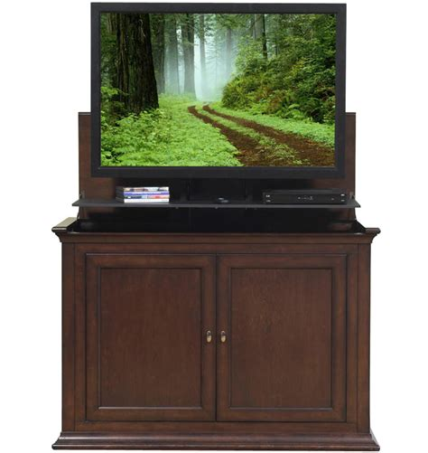 Harrison Cabinets by The Harrison Espresso Tv Lift Cabinet For Flat Screen Tvs