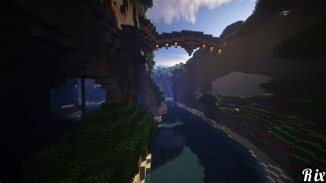 wallpaper abyss minecraft under bridge wallpaper and background 1366x768 id 610351