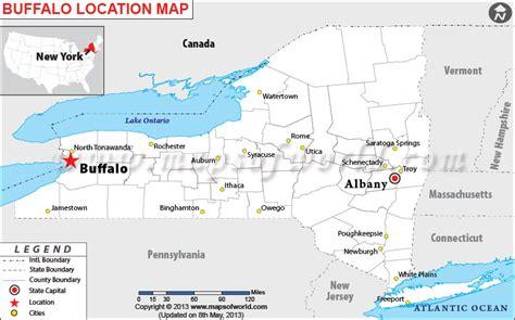 buffalo in usa map where is buffalo new york