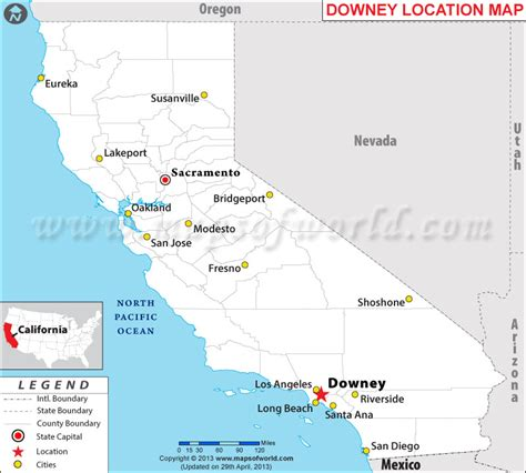 downey located  california usa
