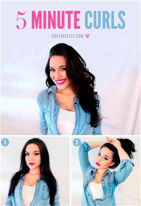 Easy Hairstyles For School In 5 Minutes by 5 Minute Curls Easy Hairstyles You Can Do In 5 Minutes