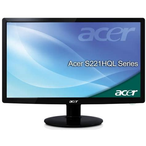 Monitor Acer Led 16 acer s221hql 21 5 inch led tft monitor 16 9 12000000 1 5ms 250cd m2 vga dvi w hdcp