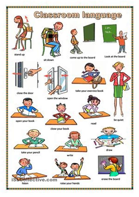 imagenes en ingles stand up english commands in the classroom buscar con google