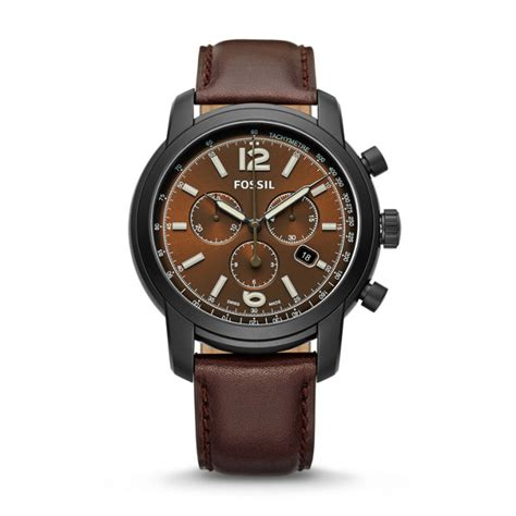 Fossil Fs 5000 Chronograph swiss fs 5 series chronograph brown leather fossil