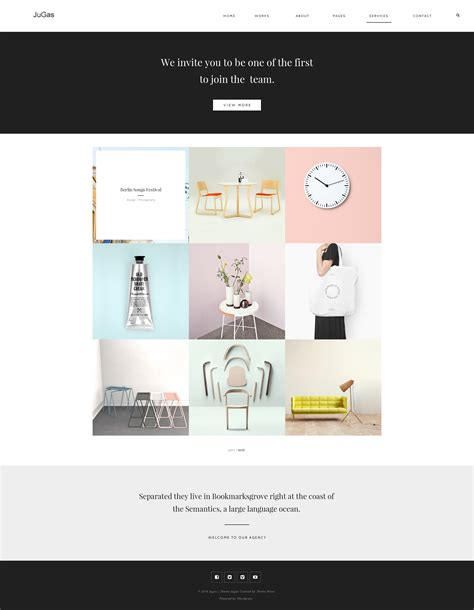 jugas stylish freelancer portfolio template by