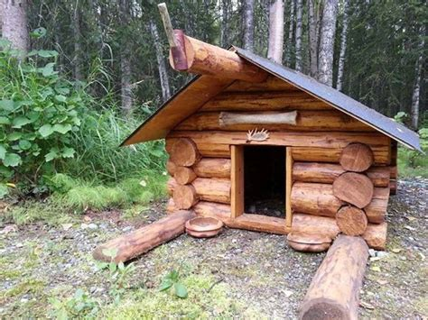 cabin dog house what a cute log cabin dog house cabins pinterest