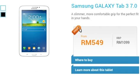 Samsung Tab 3 In Malaysia samsung galaxy tab 3 7 0 malaysia price technave