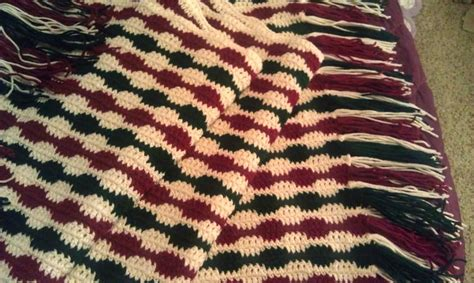pattern christmas afghan striped christmas crochet blanket