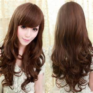 korean hairstyle long wavy images