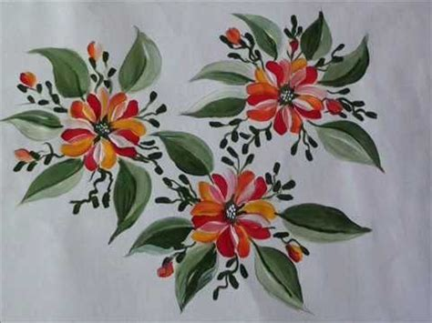 fiori dipinti su stoffa dipingere i tessuti tecnica di base
