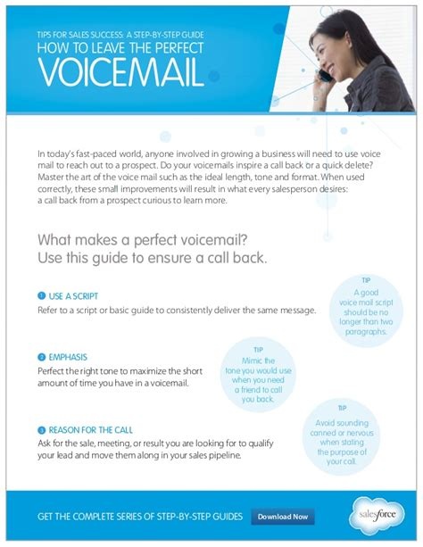 sle of voicemail message sales follow up how to leave the voice mail