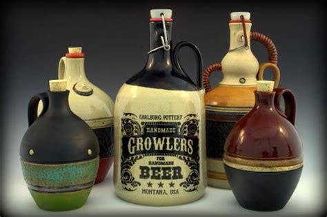Handmade Growler - custom handmade growlers by carlburg pottery