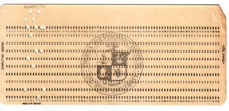 punches card i found an punch card