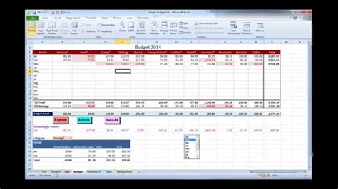 Excel Budget Template Video 1 Overview Youtube Budget Overview Template