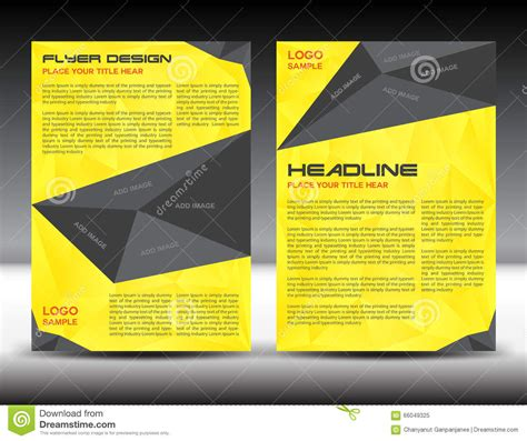 brochure template yellow yellow brochure flyer design layout template size a4