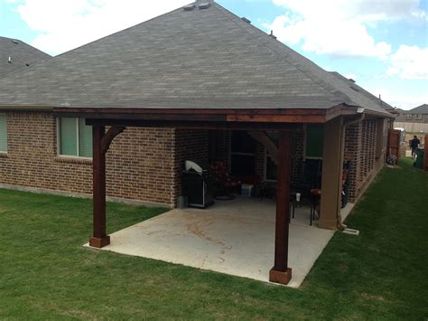 attached shed roof patio cover in hundt