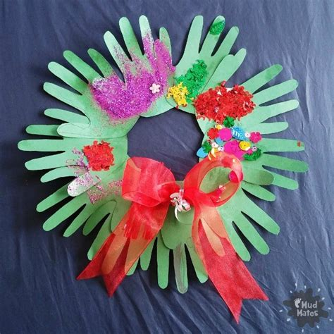 easy wreath crafts handprint wreath a easy festive craft