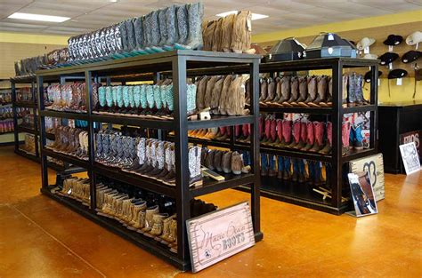 boat store in san antonio boot racks ranch and western wear rolling display cabinets