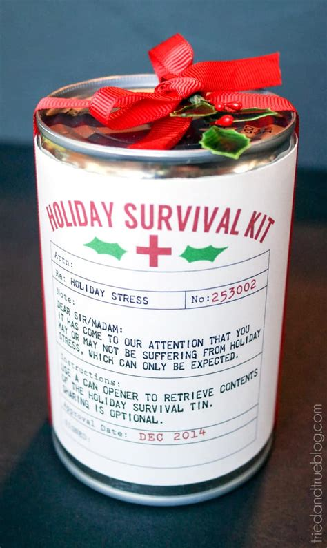 christmas grinch survival kit survival kit easy gift tried true