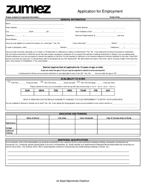 printable job applications u haul search results for printable generic job application