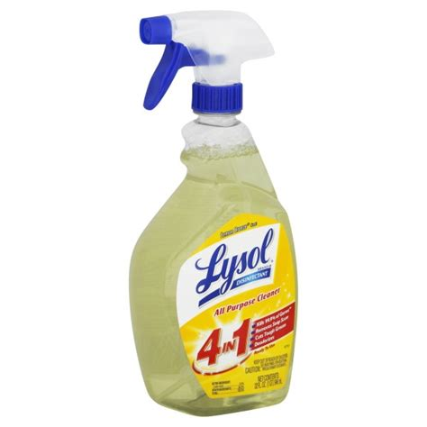 Lysol Disinfectant Spray 1 lysol disinfectant 4 in 1 all purpose cleaner lemon