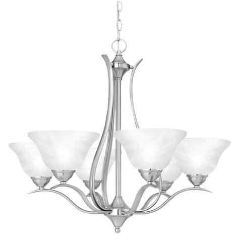 lighting prestige 6 light brushed nickel hanging