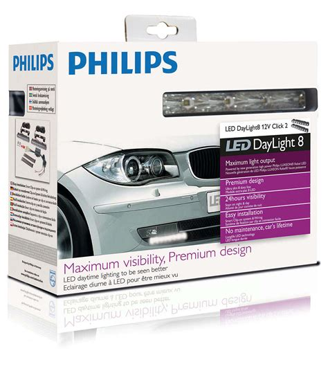 Philips Led Daytime Running Lights daylight 8 daytime running light led solutions 12824wledx1 philips