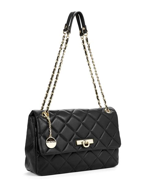 Quilted Purse by Dkny Quilted Nappa Purse In Black Lyst