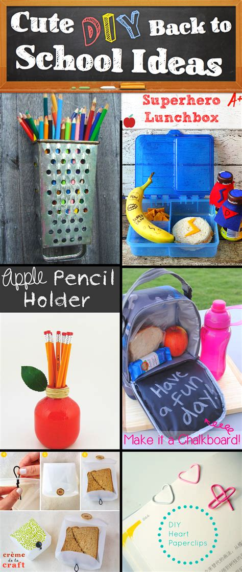 ideas for to make at school 30 creative and diy back to school ideas diy