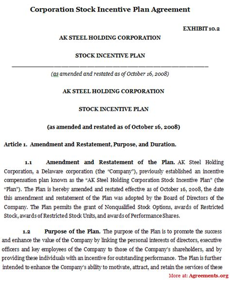 phantom stock agreement template incentive stock options in llc