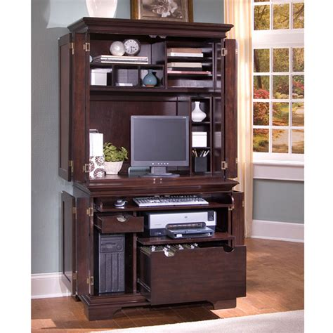 Cherry Wood Computer Armoire Furniture Gt Office Furniture Gt Armoire Gt Cherry Wood Computer Armoire