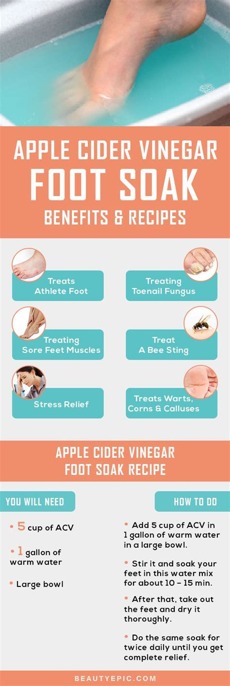 Foot Soak Recipe Detox by Apple Cider Vinegar Foot Soak Benefits And Recipes Owless