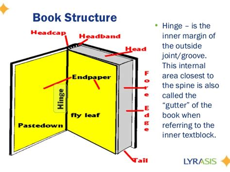 parts of the books with picture fundamentals of book repair