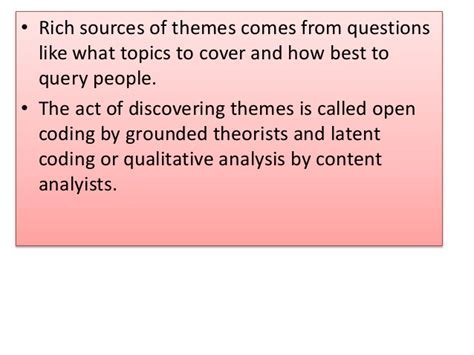 themes and subthemes in qualitative research analyzing observational data during qualitative research