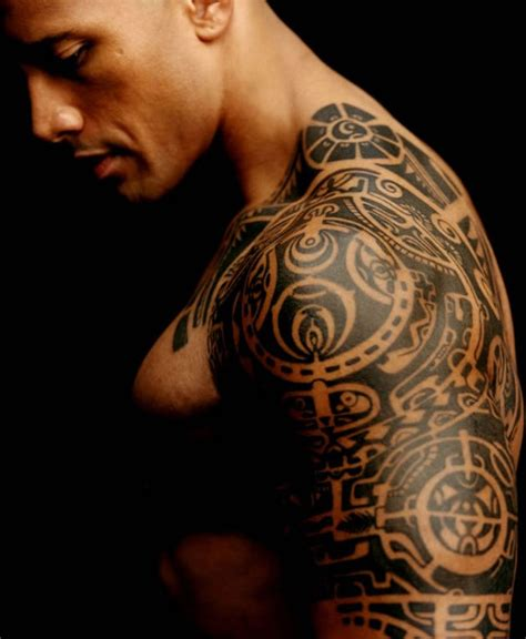 dwayne johnson tribal tattoo dwyane quot the rock quot johnson tattoos pictures images pics