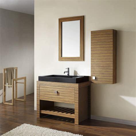 zebra wood bathroom knox zebra wood veneer vanity set with black granite