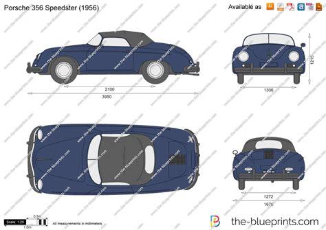 porsche vector the blueprints com vector drawing porsche 356 speedster