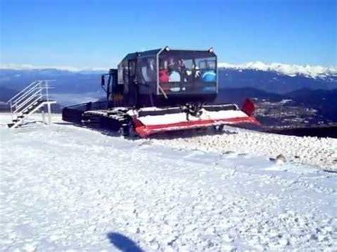 gatto delle nevi in the panchine folgaria gatto delle nevi trasporto collegamento