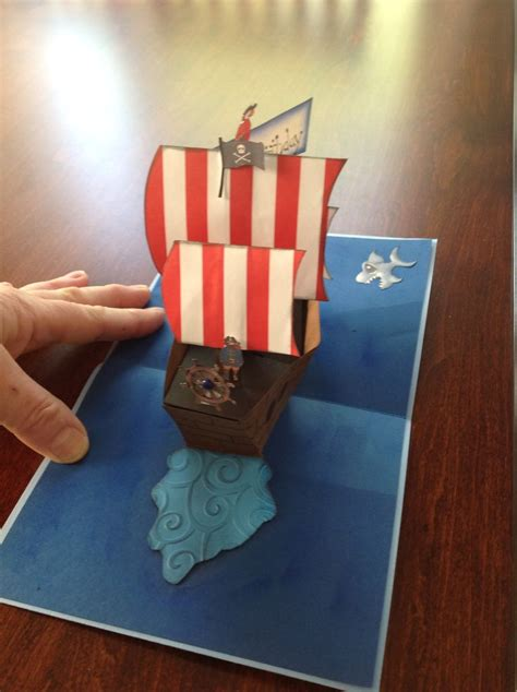 pirate ship pop up card template 27 best paper pop up ship mid flat images on
