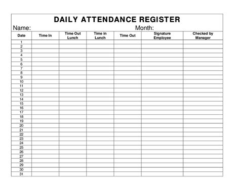 attendance register template word daily attendance register hashdoc