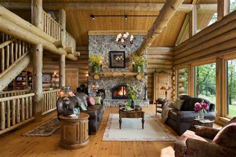 poll which rustic great room do you prefer homes of log house living some excellent reasons to choose a log house