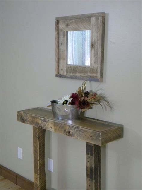 Wood Entry Table Rustic Entry Table Narrow Entry Table Side Table Console Table Reclaimed Wood Furniture