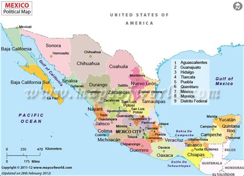 map of mexico and surrounding countries political map of mexico features international boundary