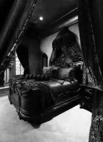 Gothic dark and black bedrooms on pinterest