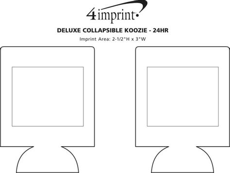 koozie template deluxe collapsible koozie 174 24 hr item no 4285 24hr