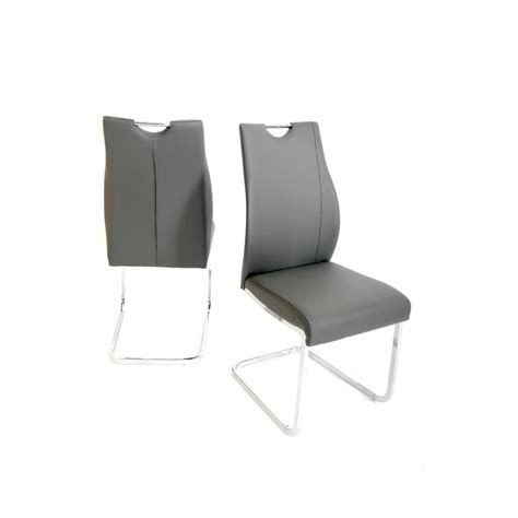 Designer Leather Dining Chairs Fairmont Furniture Giorgio Grey Designer Faux Leather Dining Chair Pair Fairmont Furniture