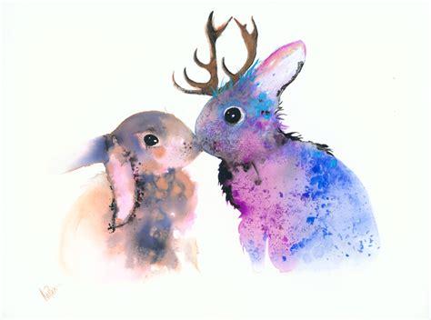 animal watercolor paintings www pixshark images
